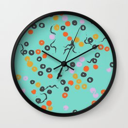 Tryppies Teal Wall Clock