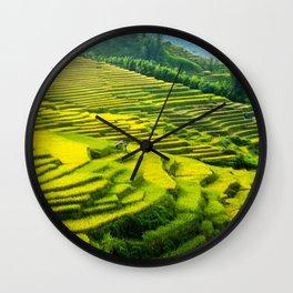 Viet Nam  Art Print, Sapa Rice Terrace, Paddy field, Wall Art Decor, Travel Poster, Fine Art Print Shop Wall Clock