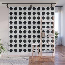 Black Polka Ball Pattern Wall Mural
