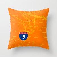 portland Throw Pillows featuring portland by Larsson Stevensem