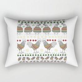 Christmas Chicken Knit Rectangular Pillow