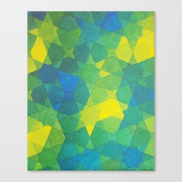 Blue and green Morocco Canvas Print