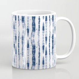 Shibori Stripes 2 Indigo Blue Coffee Mug