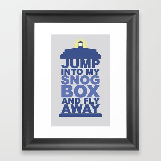 Snog Box (Tardis) Framed Art Print