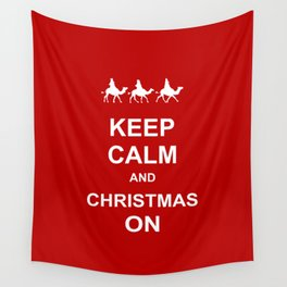 Keep Calm & Christmas On Wall Tapestry