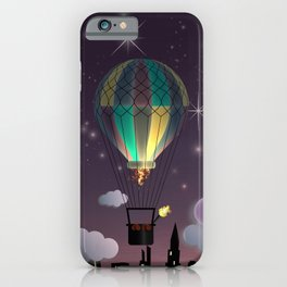 Balloon Aeronautics Night iPhone Case