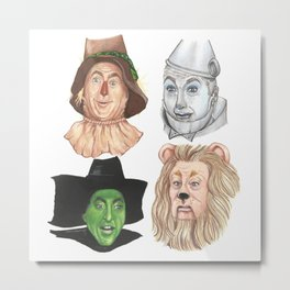 Wizard Oz Metal Print