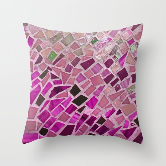 Little Pink Tiles Throw Pillow