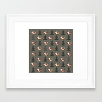 foxes Framed Art Prints featuring Foxes by Maria Jose Da Luz