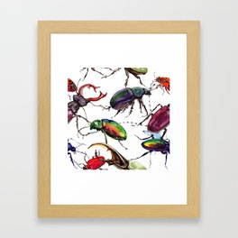 Beetles, Bugs, and Creepy Insects Framed Art Print