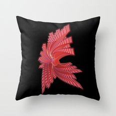 Red Glass Abstract Throw Pillow