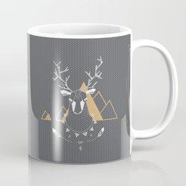 Christmas Geo Deer Gray Coffee Mug