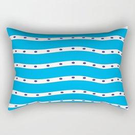 Coastal Pattern Blue Ocean Rectangular Pillow