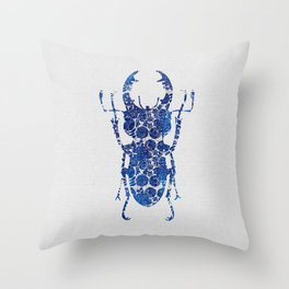 Blue Beetle III Throw Pillow