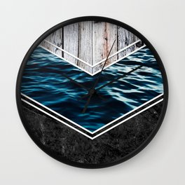 Striped Materials of Nature IV Wall Clock