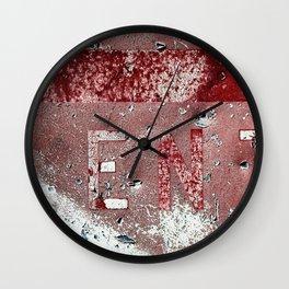 Peeling Sign In The Desert Heat Wall Clock