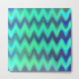 Agate Wave Blue - Mineral Series 001 Metal Print