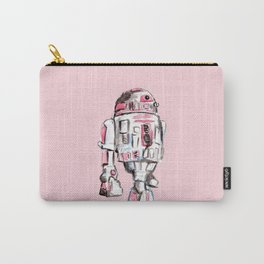 Pink Robot Carry-All Pouch