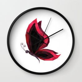 Low Poly Butterfly Wall Clock