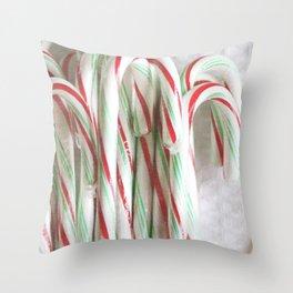 Candy Cane Stash Throw Pillow