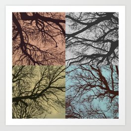 Trees // Squared Art Print