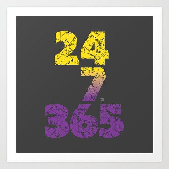 24-7/365 (Purple hustle) Art Print