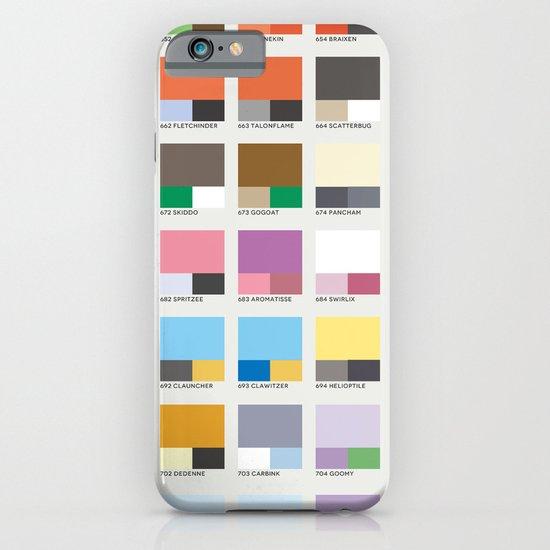 Poke-Pantone 6 (Kalos Region) iPhone & iPod Case