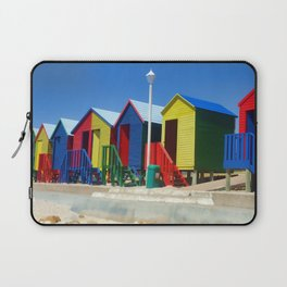 Beach houses at Muizenburg Laptop Sleeve
