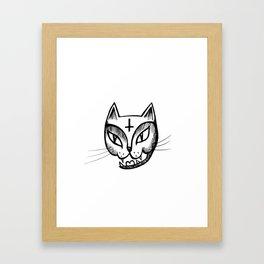 Satan Kitty Framed Art Print