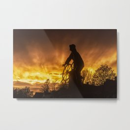 Fisherman's Memorial Sunset Metal Print