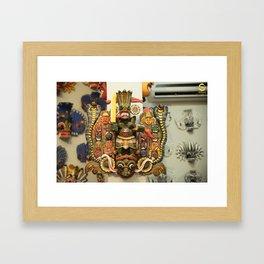 Naga Mask Framed Art Print