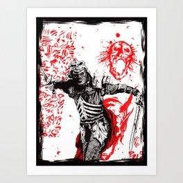 Sally forth ! Art Print