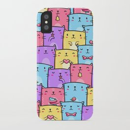 Colored Cats iPhone Case