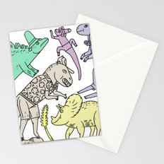 dinosaur friends Stationery Cards
