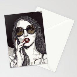 Rose Gold Galsses Stationery Cards