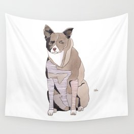 Striped Dog Wall Tapestry