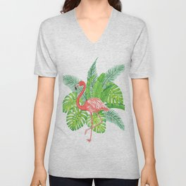 Flamingo Tropicale Unisex V-Neck
