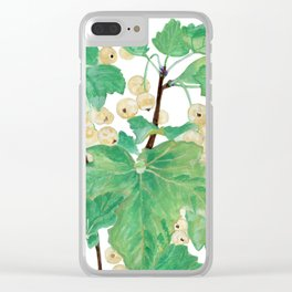 Branch of white currants Clear iPhone Case