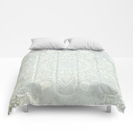 Powder Blue Mandala Comforters
