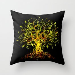 Tree Swirls Throw Pillow