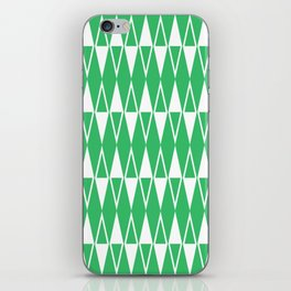 Mid Century Modern Diamond Pattern Green 234 iPhone Skin