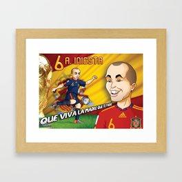 Andres Iniesta 2010 Framed Art Print