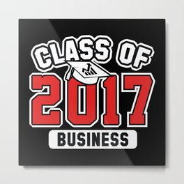 Class Of 2017 Business Metal Print