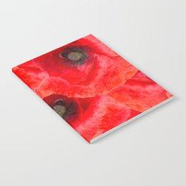Wild poppies background Notebook