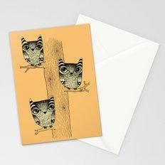 Owls (orange) Stationery Cards