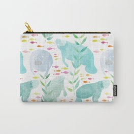 Lazy Manatees Carry-All Pouch