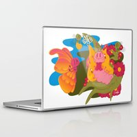 anxiety Laptop & iPad Skins featuring anxiety by Silvia Pietra