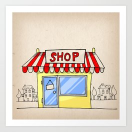 Small shop Art Print