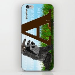 Anteater, A is for Anteater, by Barbara Kilgore iPhone Skin