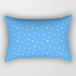 stars 111- blue Rectangular Pillow